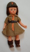 Image of 11011-33 - Doll, Plastic, Girl, Brownie
