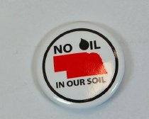 Image of 13084-109 - Button, No Oil in Our Soil