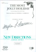 Image of 11580-23 - Sheet Music, the Most Jolly Holiday; Words & Music by Stephen L. Lawrence, Omaha