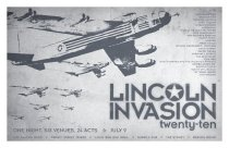 Image of 13209-9 - Poster, Lincoln Invasion, 2010