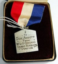 Image of 11257-29 - Medal, Prize, Don Abbott, 2nd Prize, Coronet