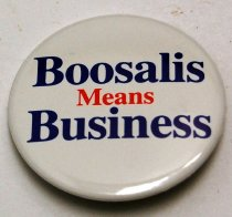 "Image of 10965-10 - Button, Boosalis; ""Boosalis Means Business"""