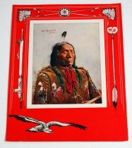 Image of 13220-1-(8) - Print, Chief Red Cloud, from F.A. Rinehart's 1900 photograph