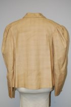 Image of 8809-146 - Jacket; Light Yellow Plaid, Double Breasted