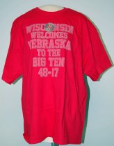 Image of 13084-112 - T-Shirt, Wisconsin Welcomes Nebraska to the Big Ten