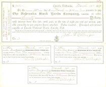 Image of 7294-3163 - Check, Nebraska Stock Yards Company
