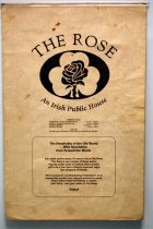 Image of 11607-64 - Menu, The Rose, 1985; Lincoln