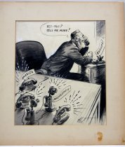 "Image of 12523-21 - Cartoon; Herbert Johnson; ""Line Is Busy"""