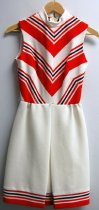 Image of 13084-113-(1-2) - Dress, Mini, White, Red and Blue