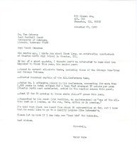 Image of 13143-199 - Letter, to Tom Osborne Suggesting Recruitment of Chuck Long