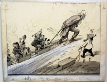 "Image of 12523-101 - Cartoon; Herbert Johnson; ""Too Many Hitchhikers"""