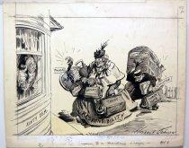 "Image of 12523-108 - Cartoon; Herbert Johnson; ""The Answer to a Maiden's Prayer"""