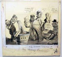 """Image of 12523-109 - Cartoon; Herbert Johnson; """"Too Many Gardeners"""""""