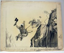 """Image of 12523-110 - Cartoon; Herbert Johnson; """"They Cant Boss Adolph, by Golly"""""""