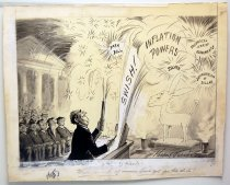 """Image of 12523-111 - Cartoon; Herbert Johnson; """"When, as and if,--Look out for the Stick!"""""""