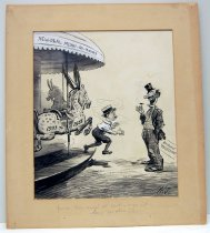 """Image of 12523-179 - Cartoon; Herbert Johnson; """"You See! Your Money's All Spent and You Aint Been Nowhere!"""""""