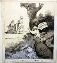 "Image of 12523-189 - Cartoon; Herbert Johnson; ""The Finger Man"""