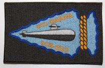 Image of 10992-2 - Patch, USS Omaha, Submarine; Black W/ Blue Arrowhead and SSN 692