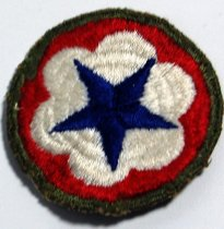 Image of 9085-62 - Patch, Round; Red, White, Blue Star, Army Service Force