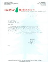 Image of RG4121.AM.S1.SS1.F252.7 LETTER LEANIN TREE