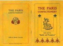 Image of 13232-1 - Menu, The Paris Confectionery