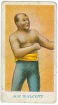 Image of 11880-75 - Card, Advertising; Joe Walcott, Boxer, American Caramel Co.