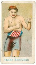 Image of 11880-77 - Card, Advertising; Terry McGovern, Boxer, American Caramel Co.