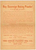 Image of 7956-4357 - Instructions; Sovereign Baking Powder