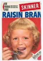 Image of 9807-18 - Label, Skinner Raisin Bran Box; Featuring Crissie Wade of Omaha