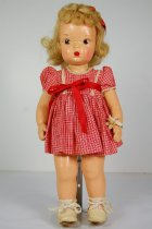 Image of 13244-20-(1-9) - Doll, Terri Lee, Blonde, Red Plaid Dress