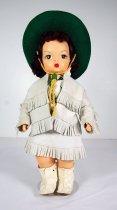 Image of 13244-194-(1-8) - Doll, Terri Lee, Frontier Cowgirl, White Fringed Costume