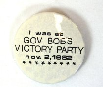 Image of 13242-17 - Button, Political, Gubernatorial, Bob Kerrey's Victory