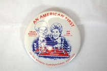 "Image of 13242-20 - Button, Political, ""An American First"", Boosalis vs. Orr, All Female Gubernatorial Race"