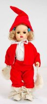 Image of 13244-213-(1-11) - Doll, Tiny Terri, Blonde, Red Snow Suit