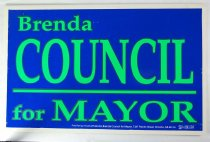 Image of 13242-48 - Sign, Advertising, Campaign, Brenda Council for Mayor