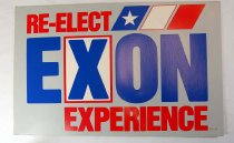 Image of 13242-55 - Sign, Advertising, Campaign, Re-elect Exon