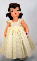 Image of 13244-202-(1-10) - Doll, Terri Lee, Brunette, Bridesmaid Yellow Dress
