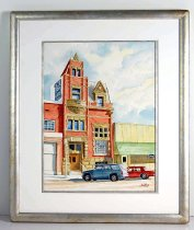 Image of 13245-1 - Painting, The Farmers and Merchants Bank, Red Cloud, NE by Richard Schilling