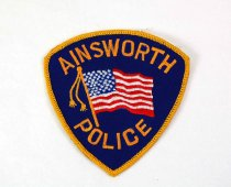 Image of 13259-1 - Patch, Law Enforcement, Ainsworth Police