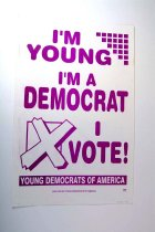 Image of 13242-59 - Sign, Advertising, Political, Young Democrats of America