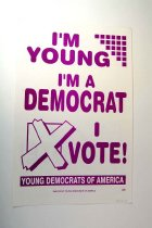 Image of 13242-61 - Sign, Advertising, Political, Young Democrats of America