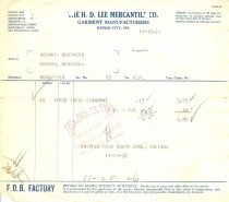 Image of 13259-192 - Invoice; H.D. Lee Mercantile Co. to Goehner Bros.