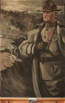 Image of 752P-1 - Painting; Portrait, Gen. John J. Pershing, By Martha McKelvie