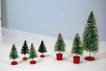 Image of 13274-16-(1-7) - Decoration, Holiday, Miniature Tree Set