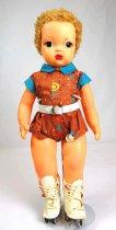 Image of 13244-164-(1-5) - Doll, Jerri Lee, Blonde Hair, Brown Percale Play Suit