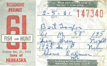 Image of 13273-1 - Permit, Fish and Hunt, Nebraska Resident, 1961
