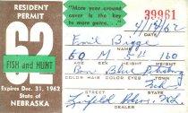 Image of 13273-2 - Permit, Fish and Hunt, Nebraska Resident, 1963