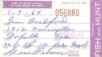 Image of 13273-5 - Permit, Hunt, Nebraska Resident, 1964