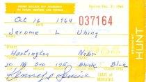 Image of 13273-6 - Permit, Fish and Hunt, Nebraska Resident, 1964