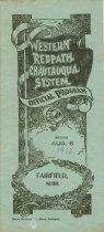 Image of 13275-1 - Program; Western Redpath Chautauqua System, Fairfield, Nebraska, 1910